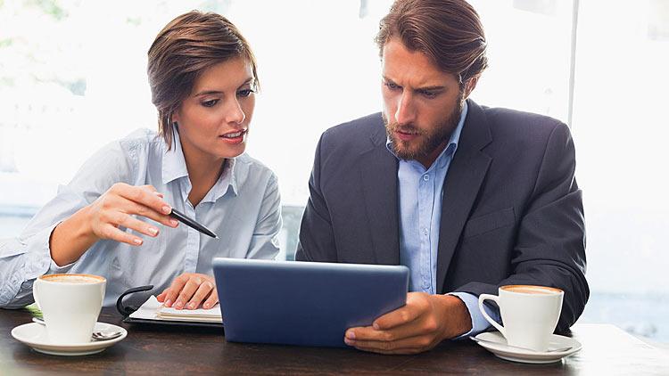 Oglądanie prezentacji na tablecie