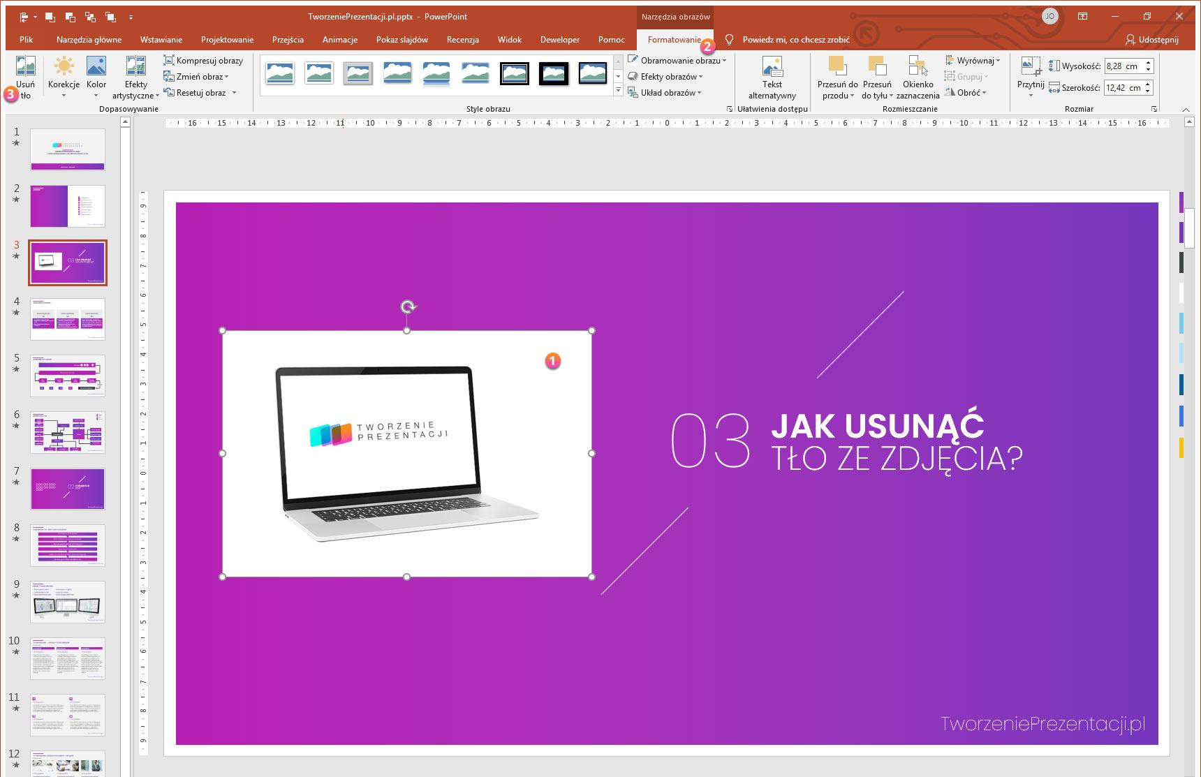 Jak usunąć tło zdjęcia w PowerPoint