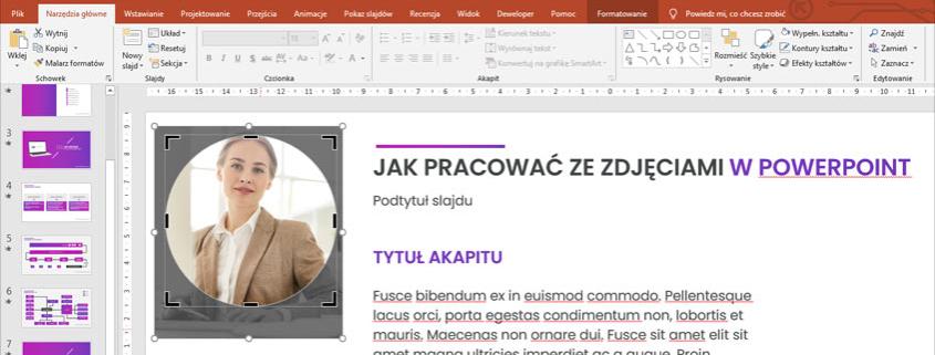 Jak pracować ze zdjęciami w PowerPoint